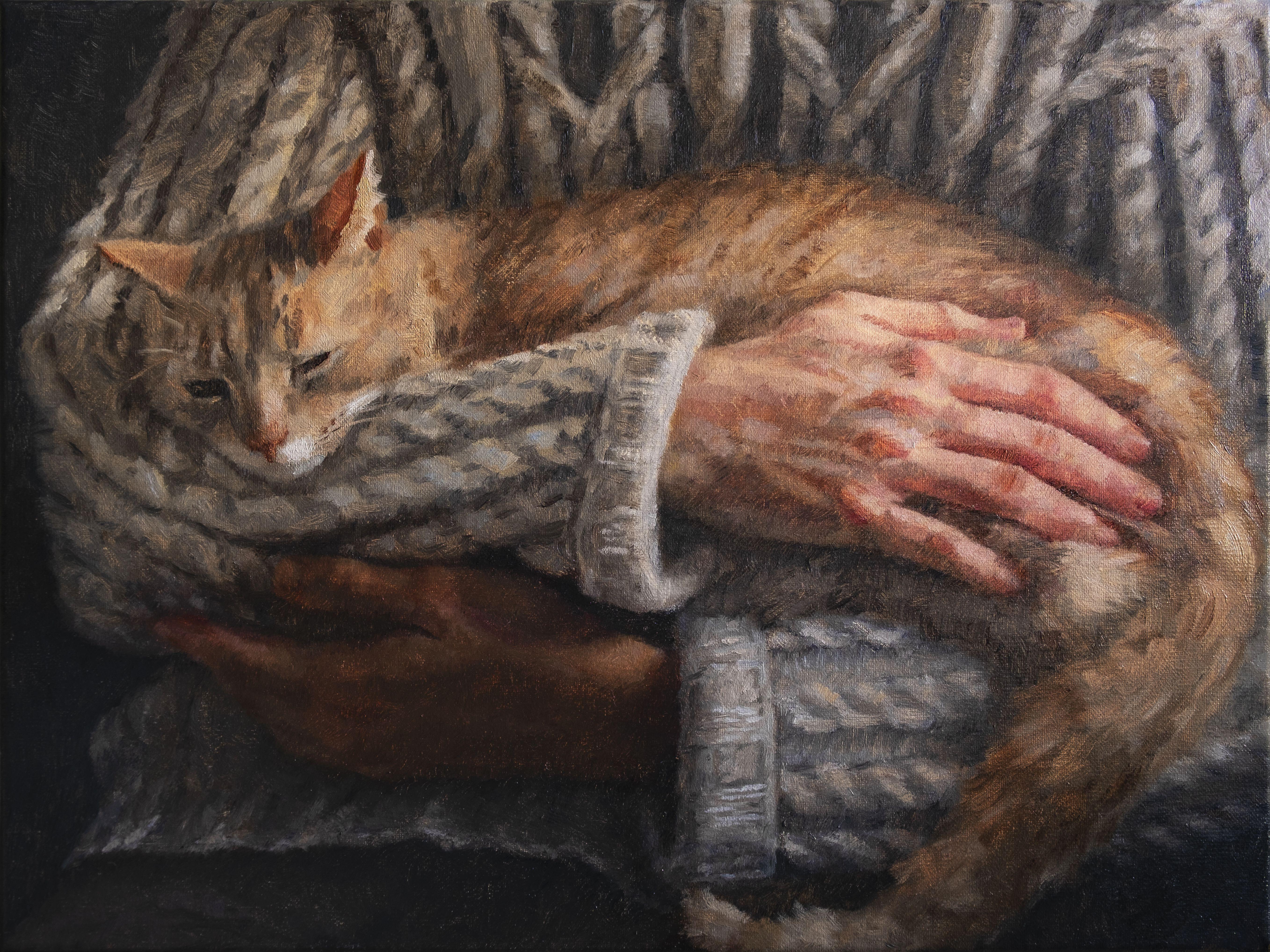 Anna Calleja, Safe, oil on canvas, 30x40cm, 2020